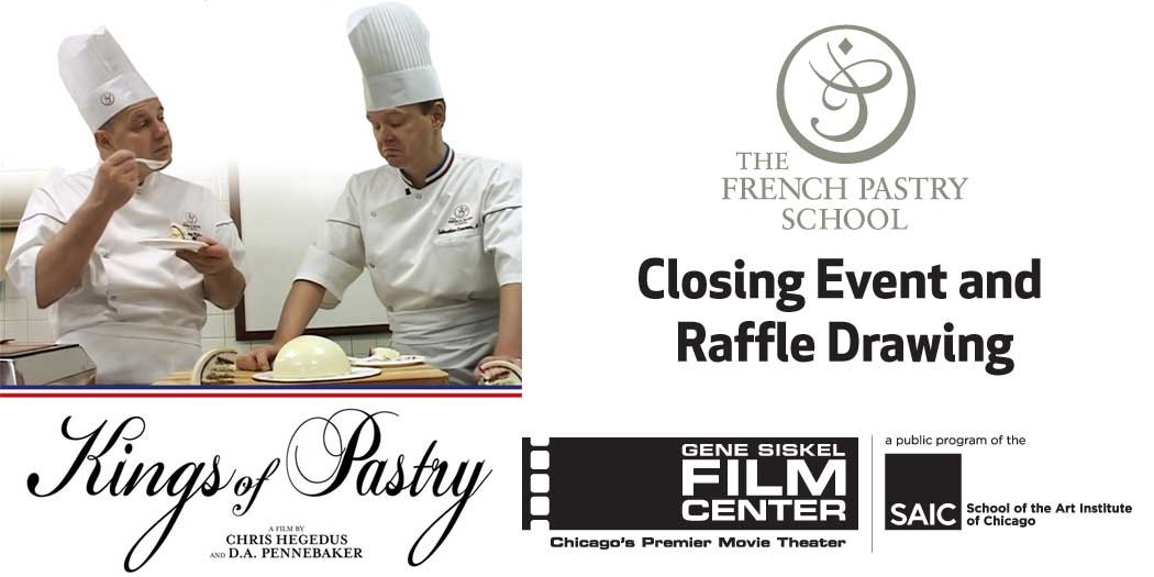 "Special screening ""Kings of Pastry"" with Chef Jacquy Pfeiffer in person!"